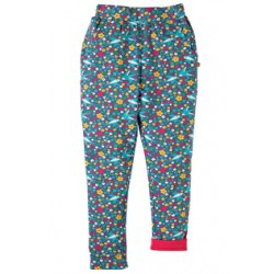 Trousers - Frugi Zena Gathered Trousers - Swallow Ditsy- 7-8, 8-9,9-10y - sale