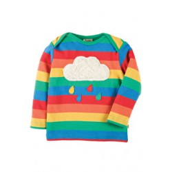 Top - Frugi Bobby Applique Top - Rainbow/Cloud - AW17 - TTA701RCL - 6-12, 12-18, 2-3y - sale
