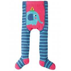 Tights - Frugi - Crawl Away Tights - blue elephant -6-12m - sale