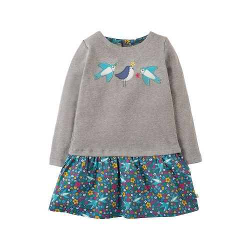 Dress - Frugi - Aurora Grey Swallows -  9-10 - sale