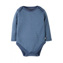 Body - Frugi Spotty Body - Blue Lake dot -0-3m, 3-6m, 18-24,