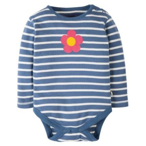 Body - Frugi - Lerryn - Blue Lake Breton - 0-3, 3-6m - SALE