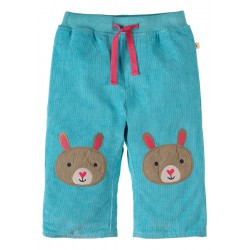 Trousers - Frugi - Cord Patch Aqua/Bunny  - 6-12 m 12-18, - sale