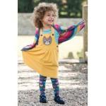 Dress - Frugi Doris Cat  Dungaree Dress - 3-6, 6-12m - sale