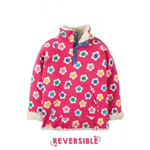 Fleece - Frugi  - Reversible Raspberry Daisy Disco - 7-8 - sale