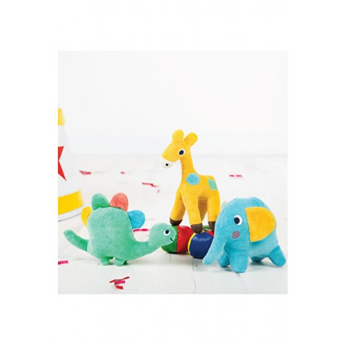 Rattle - Froogli Soft Rattle - Squidge/Elephant  (2x) , Dinky/Dinosaur (1x) and Giggles/Giraffe (2x)