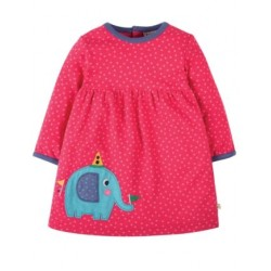 Dress - Frugi - Dolcie - Elephant - 0-3, 3-6m and 2-3y  - SPECIAL -  independent shops exclusive - not available on Frugi main site ) - sale