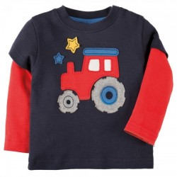 Top - Frugi - Little look out - Tractor - INDEPENDENT SHOPS -  EXCLUSIVE  6-12, 12-18, 3-4