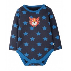 Body - Frugi - Lerryn Navy Stars and Tiger - 0-3, 3-6m
