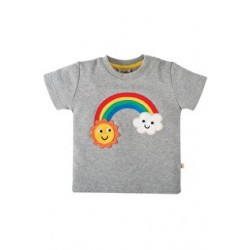 Top - Frugi  Little Creature - Grey Rainbow 3-6, 6-12, 18-24 sale