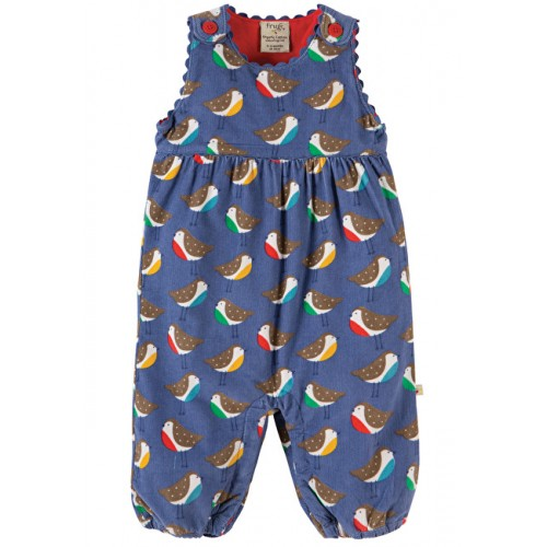 Dungarees - Frugi Willow - Cord - Winter Robins - 6-12,  2-3y  - sale