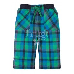 Trousers - Frugi Little Checked Snugs - Green Check AW17 - 3-6m, 6-12, 12-18, 18-24m - sale