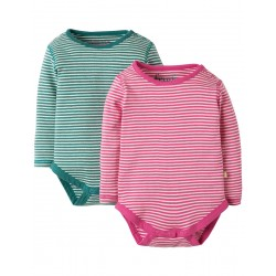 Top - Frugi - AW18 -Pointelle 2 Pack Body -  3-6, 6-12, 12-18, 18-24m and 2-3y