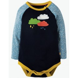 Body - Frugi - Rowan Raglan - independent shops exclusive - Navy Rainclouds - 0-3, 3-6m - sale