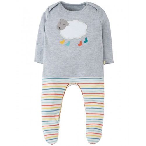 Babygrow - Frugi - Arlo - Babygrow Sheep - Tiny Baby ( up to 50cm, 2.5kg ) , 3-6m  - sale