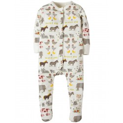 Babygrow -  frugi - AW18 - Soft White Hay Days - 0-3, 3-6m