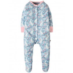 Babygrow - Frugi - AW18 - Sky Blue Arctic Hares - 3-6m -   last one in sale
