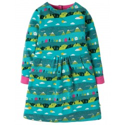Dress - Frugi - Lulu Jumper Dress - Seaglass Alpine  Town -  2-3, 3-4, 4-5, 9-10y - sale