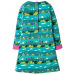 Dress - Frugi - AW18 - Lulu Jumper Dress - Seaglass Alpine  Town -  2-3, 3-4, 4-5, 5-6,  9-10y - sale