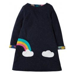 Dress - Frugi - AW18 - Rita Reversible Dress- Bright Scandi Skies -   8-9y - sale (2 x left)