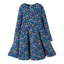 Dress - Frugi - AW18 - Sofia Skater - Perfect Day -  2-3, 3-4, 4-5 ,5-6, 6-7, 7-8, 8-9, 9-10y