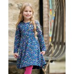 Dress - Frugi - Sofia Skater - Perfect Day - 2-3, 8-9, 9-10y - sale