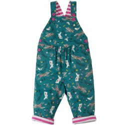 Dungarees - Frugi - AW18 - Ethel Cord Dungarees - River Blue Alpine Friends -6-12, 18-24m and 2-3, 3-4y
