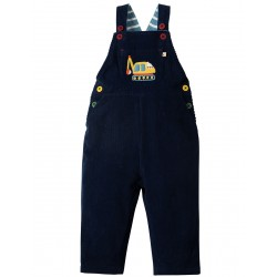 Dungarees - Frugi - Play Days Dungaree - Navy Digger  12-18, 18-24m -  now in sale