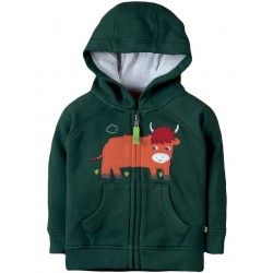 Hoody - Frugi - AW18 - Hayle - Fir Tree Cow - 12-18, 18-24,  and 2-3 , 3-4y