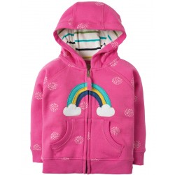 Hoody - Frugi - AW18 - Hayle - Flamingo Snowball/Rainbow - 12-18, 18-24m and 2-3, 3-4y