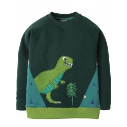 Sweatshirt - Frugi- AW18 - Summit - Fir Tree Dino - 3-4, 7-8, 8-9, 9-10