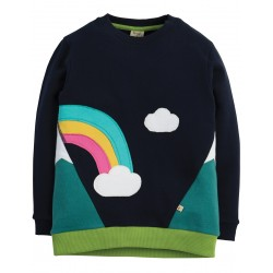 Sweatshirt - Frugi -  AW18 - Summit Navy and Rainbow- 3-4, 4-5, 5-6, 8-9y