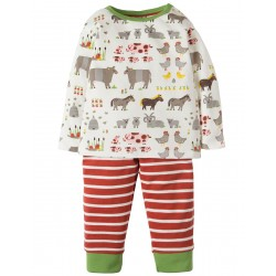 Set - Frugi - AW18 - Oliver outfit - Soft White Hay Days - 0-3, 3-6, 6-12, 12-18, 18-24m and  3-4y