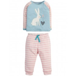 PJ - Frugi - AW18 - Stargaze PJs - Shell Pink Breton/Hare - 12-18, 18-24m and 2-3, 3-4y