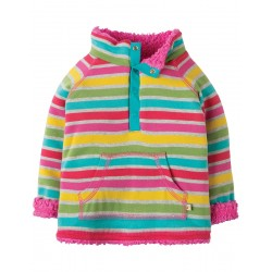 Fleece - Frugi - AW18 - REVERSIBLE - Rainbow Marl Breton - 12-18- and 3-4y