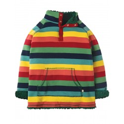 Fleece - Frugi - AW18 - REVERSIBLE - Rainbow Marl Stripe - 3-4, 6-7y