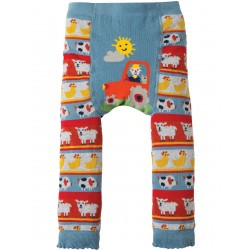 Leggings - Frugi - AW18 - Little Knitted -Tractor Fairisle  - 1-2, 2-4y - sale