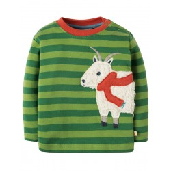 Top - Frugi -  Little Discovery - Meadow Green Goat -  12-18m -- last one -sale