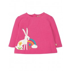 Top - Frugi - AW18 - Mabel - independent shops exclusive - Flamingo/Arctic Hare - 12-18m and 2-3, 3-4y