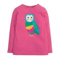 Top - Frugi - AW18 - Maisy - Flamingo Barn Owl -  5-6, 8-9, 9-10y - sale