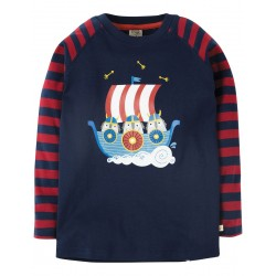 Top - Frugi - AW18 - Alfie Vikings  - 2-3, 8-9y