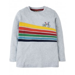 Top - Frugi - AW18 - Touring - Grey Marl/Bike Trail -  3-4, 4-5, 6-7y