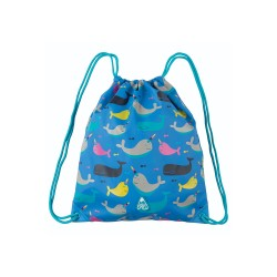 Bag - Frugi - Ready Steady Go Bag - Narwhal Natter  Whale - sale