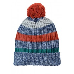 Hat - Frugi - AW18 - Blizzard Hat - Campfire Multistripe  0-12, 1-2, - comes up very big
