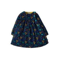 Dress - Frugi AW18  - drop 3 - Little Bonnie Button Dress - Forest forager - 6-12m  - last one in sale