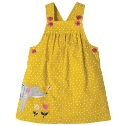 Dress - Frugi - AW18 - Tilly Cord Pinafore Dress, Gorse Speckle Spot/Fox - 6-12m sale