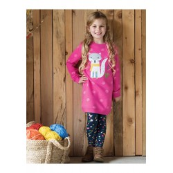 Dress - Frugi - Eloise Jumper - Flamingo pink fox - 2-3 last one in - CLEARANCE 45% off - No return