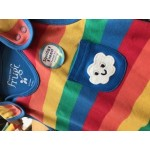 Dungarees - Frugi Kneepatch -Rainbow Stripe  - 12-18 (1x) , 18-24m  (6x) SALE