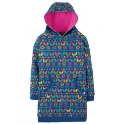 Dress - Frugii - AW18 - Harriet Hoody - Scandi Birds -  6-7y - sale
