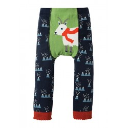 Leggings - Frugi - AW18 - Little Knitted - Mountain Range/Goat